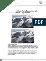 I ghiacciai del Gran Paradiso monitorati da Legambiente - Geolocal.it, 8 settembre 2021