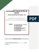 Manual de normas e condutas em biossegurança - UFRJ