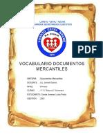 VOCABULARIO DOCUMENTOS MERCANTILES