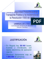 SaludSeguridadPreventivaTransportePublicoyl Incidencia de La Resolucion 1555 de 20[1]