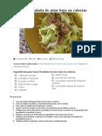 receta Ensalada de atún baja en calorías