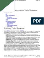 Vendor Management Definition
