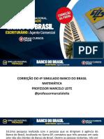 CORREÇÃO DO 4º SIMULADO PREMIADO BANCO DO BRASIL-2021