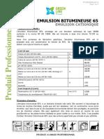 EMULSION BITUMINEUSE 65 FT-GREEN LINE