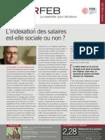 L'indexation des salaires est-elle sociale ou non ? , Infor FEB 13, 7 avril 2011