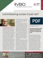 Loonindexering sociaal of juist niet?, Infor VBO 13, 7 april 2011
