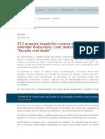 Arquivado inquérito contra médica acusada de ofender Bolsonaro