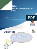 Eletricidade - Seção 8 - Divisor de tensão e corrente