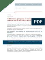CNJ realiza pesquisa de satisfação acerca das páginas de jurisprudência dos trib
