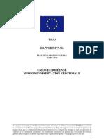 Rapport de l'Union européenne sur les élections présidentielles de Mars 2010 au Togo