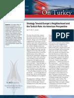 Strategy Toward Europe's Neighborhood and the Turkish Role
