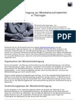 Mitarbeiterbefragung über Mitarbeiterzufriedenheit in Thüringer Unternehmen