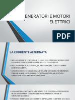 GENERATORI E MOTORI ELETTRICI