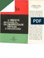 A Origem Da Familia, Da Propriedade Privada e Do Estado - Friedrich Engels
