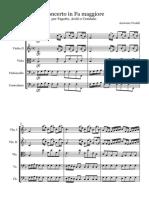 Vivaldi Bassoon concerto - Full Score