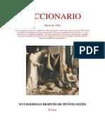 XVI Domingo Después de Pentecostés. Leccionario