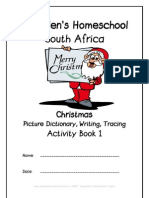 Christmas Picture Activity Dictionary, Donnette Davis, St Aiden's Homeschool