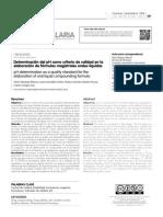 Determinación Del PH Como Criterio de Calidad en La