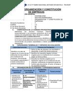 SÍLABO DE ORGANIZACIÒN Y CONSTITUCIÒN DE EMPRESAS
