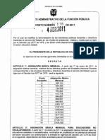 DECRETO SALARIO 2011 2277