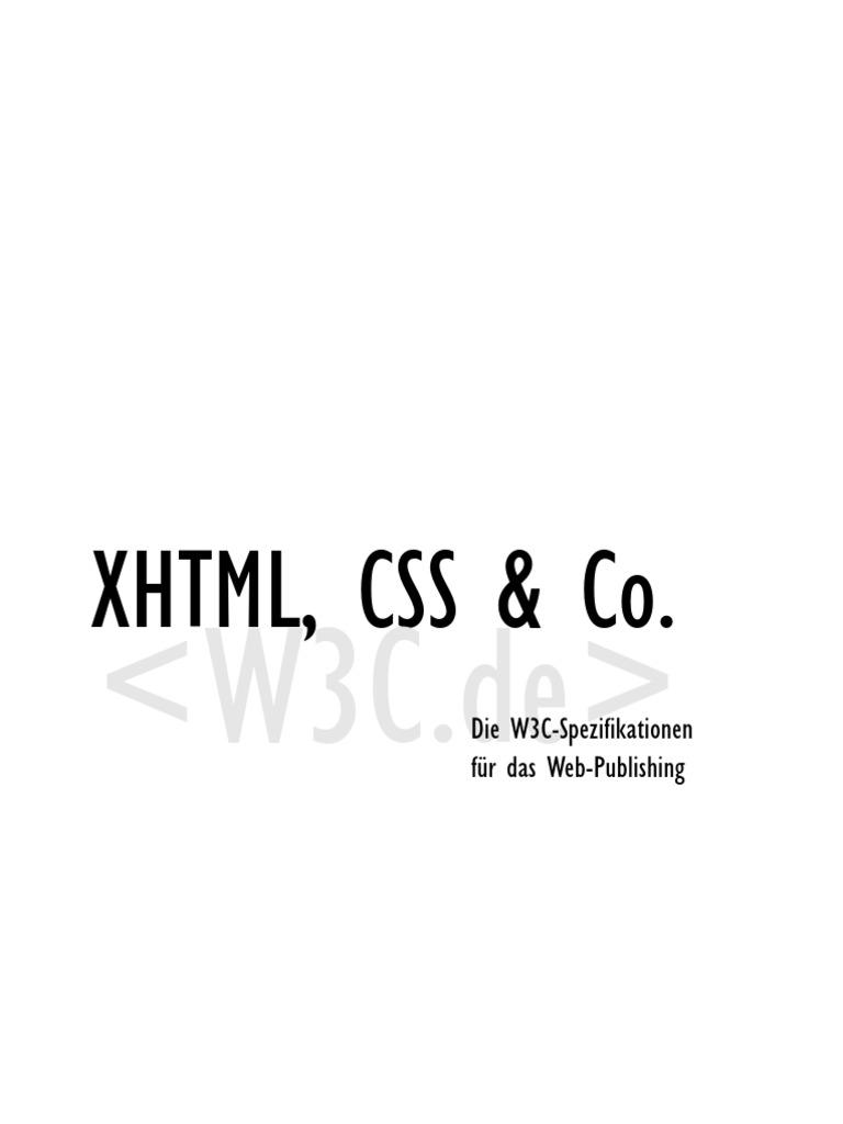 Addison Wesley - XML, XHTML, CSS & Co