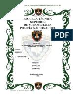 PNP LEY GENERAL DE TRANSPORTE TRANSITO TERRESTRE LEY 27181