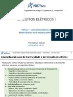 Aula CE1 - Tema 02 - Conceitos básicos de eletricidade e de circuitos elétricos