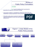 Models of Public Policy Formulation