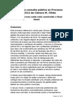 RELATÓRIO, Proc Ad. CMO 030512