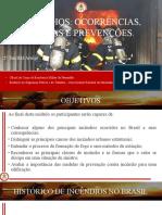 apresentação sobre incêndio