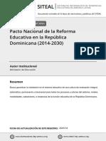 pacto educativo 2014- 2030