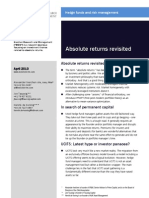 Absolute returns revisited