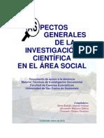 Aspectos Grales. de la investigación cientifica en el Area Social