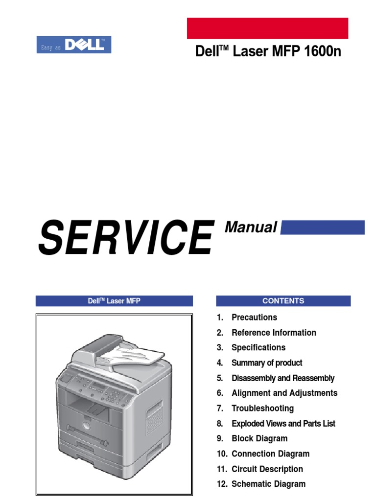DELL 1600n Samsung SCX-4720F Service Manual Parts and Diagrams |  Electrostatic Discharge | Ac Power Plugs And Sockets