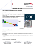 Infotech 1702 - DS3 R5 - Précaution d'assemblage transmission latérale_pivot