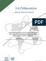 Droit à l'éducation, Portée et mise en œuvre