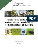 Animals - Recensement Et Étude Des Espèces Dites 'Invasives' Et 'Envahissantes' en Essonne