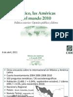 Presentación_Pública de la encuesta México, las américas y el mundo