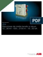 Disjuntor de Média Tensão a Vácuo 12...36kV - ABB