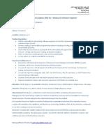 Position Description Modus21 Software Engineer