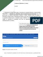 Download e instalação do sistema (Windows e Linux) Suporte e-SUS APS