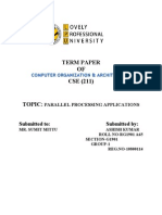 tp PARALLEL PROCESSING APPLICATIONS