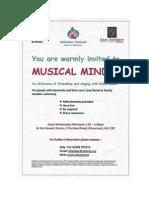 Musical Minds Leaflet
