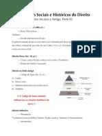 Direito Arcaico e Antigo, Parte 02 (PDF)