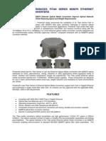 PROTOKRAFT Introduces Titan Series M28876 Ethernet Media Converters