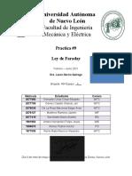 Practica #9 - Ley de Faraday -Equipo 6
