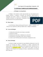 1- Regras para o estágio curricular supervisionado - Optometria 2016