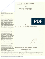 Leadbeater - The Masters and the Path (Excerpts) (1925)