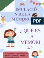 ESTIMULACION DE LA MEMORIA