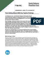 Teen Dating Abuse 2009 Key Topline Findings(2)